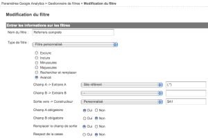 Referrers complets dans Google Analytics